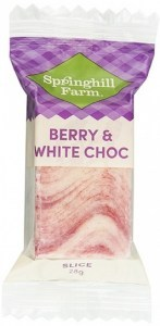 Springhill Farm Berry & White Choc Wrapped Slices 27x28g