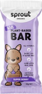 Sprout Organic Kids Plant-Based  Super Berry Bars  12x30g