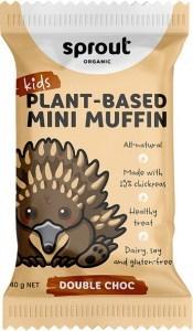 Sprout Organic Mini Muffin Double Choc 12x40g