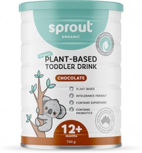 Sprout Organic Toddler Formula Chocolate 12+ months Tin 700g