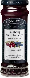 St Dalfour Cranberry Blueberry Fruit Spread 284g
