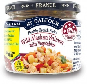 St Dalfour Healthy French Bistro Wild Alaskan Salmon with Vegetables 200g