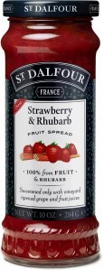 St Dalfour Strawberry & Rhubarb Fruit Spread 284g