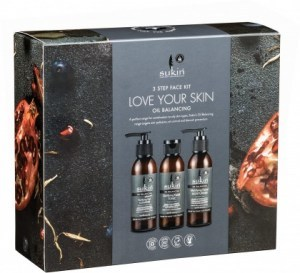 Sukin 3 Step Face Kit Love Your Skin Oil Balancing Pack