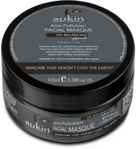 Sukin Anti-Pollution Facial Masque Oil Balancing Plus Charcoal 100ml