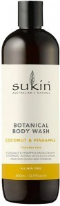 Sukin Botanical Body Wash Pineapple & Coconut  Cap 500ml