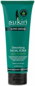Sukin Super Greens Detoxifying Facial Scrub 125ml Tube