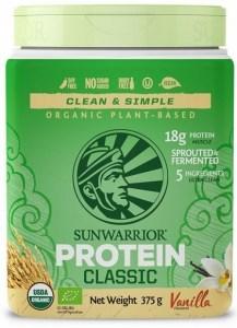 Sunwarrior Classic Organic Rice Protein Vanilla Powder Vegan 375g MAR21