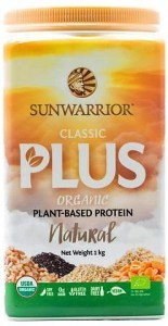 Sunwarrior Classic Plus Organic Plant Based Protein Natural Powder 1Kg