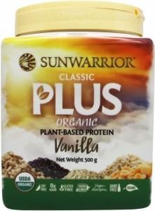 Sunwarrior Classic Plus Organic Plant Based Protein Vanilla Powder 500g