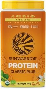 Sunwarrior Classic Plus Organic Plant Based Protein Vanilla Powder  750g