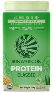 Sunwarrior Organic Plant Based Protein Classic Natural Powder 750g NOV20