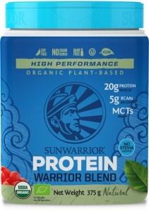 Sunwarrior Organic Plant Based Protein Warrior Blend Natural Powder 375g MAR21