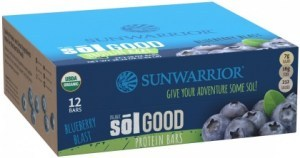 Sunwarrior Sol Good Organic Protein Bars Blueberry Blast 12x62g