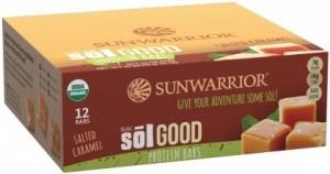 Sunwarrior Sol Good Organic Protein Bars Salted Caramel 12x62g