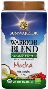 Sunwarrior Warrior Blend Organic Protein Mocha Blend 1Kg MAR20