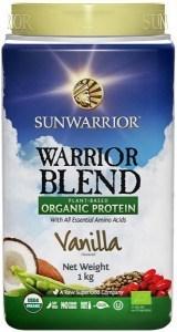Sunwarrior Warrior Blend Organic Protein Vanilla Blend 1Kg