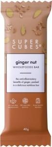Super Cubes Ginger Nut Wholefoods Bar  10x40g