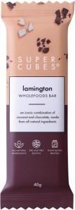 Super Cubes Lamington Wholefoods Bar  10x40g