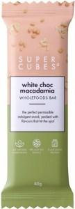 Super Cubes White Choc Macadamia Wholefoods Bar  40g