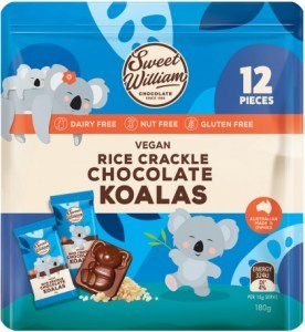 Sweet William Rice Crackle Chocolate Koalas  180g