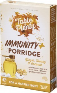 Table of Plenty Immunity + Porridge (Ginger, Honey & Coconut) 400g