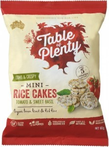 Table of Plenty Tomato & Sweet Basil Savoury Mini Rice Cakes  60g