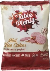 Table of Plenty Triple Berry Yoghurt Mini Rice Cakes  60g