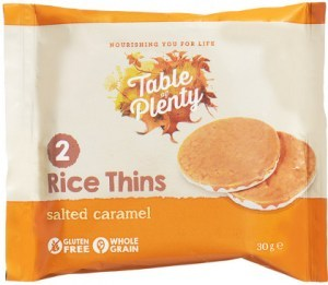 Table of Plenty Triple Rice Thins Salted Caramel  30g