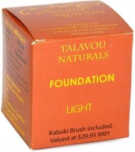 Talavou Naturals Light Powder 8g with Kabuki Brush