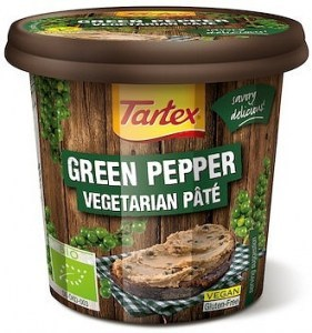 Tartex Pates Organic Pate Green Pepper  125g