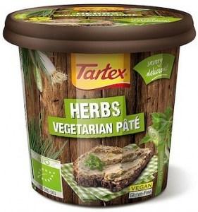 Tartex Pates Organic Pate Herb  125g