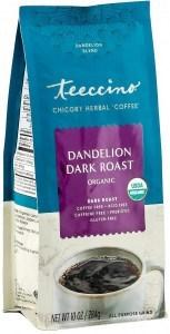 Teeccino Chicory Herbal Coffee Organic All Purpose Grind Dandelion Dark Roast  No Caf 284g