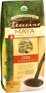 Teeccino Chicory Herbal Coffee Organic All Purpose Grind Maya Chai Medium Roast No Caf 312g