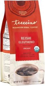 Teeccino Reishi Eleuthero Mushroom Adaptogen 284g Foil Bag