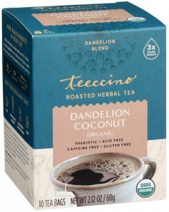 Teeccino Roasted Herbal Tea Organic Dandelion Coconut No Caf  10Teabags 60g