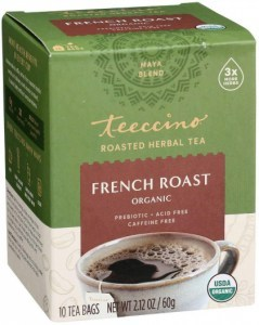 Teeccino Roasted Herbal Tea Organic French Roast Dark Roast No Caf 10Teabags 60g