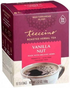 Teeccino Roasted Herbal Tea Vanilla Nut Medium Roast No Caf 10Teabags 60g