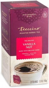Teeccino Roasted Herbal Tea Vanilla Nut Medium Roast No Caf 25Teabags 150g