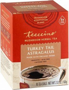 Teeccino Turkey Tail Astragalus Mushroom Adaptogen 10Teabags Box 60g