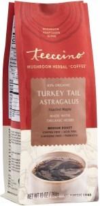 Teeccino Turkey Tail Astragalus Mushroom Adaptogen 284g Foil Bag