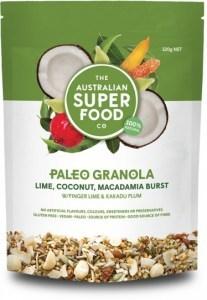 The Australian Superfood Co Paleo Granola Lime, Coconut, Macadamia Burst 320g