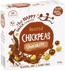 The Happy Snack Company Chickpeas Chocolate (5x20g) Snack Packs 100g