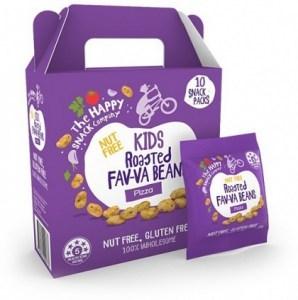 The Happy Snack Company KIDS Roasted Fav-va Beans Pizza  10x15g Box