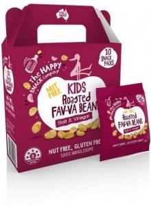 The Happy Snack Company KIDS Fav-va Beans Salt & Vinegar 10x15g Pack