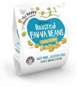 The Happy Snack Company Roasted Fav-va Beans Lightly Salted 200g Bag