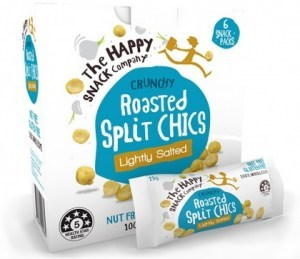 The Happy Snack Company Roasted Split Chics Lightly Salted 6x25g Box