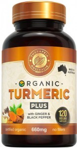 Therapeia Australia Organic Turmeric Plus with Ginger & Black Pepper 660mg 120 caps