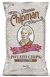Thomas Chipman Unsalted Potato Chips 100g