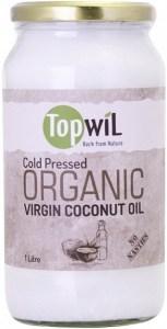 TopwiL Cold Pressed Organic Virgin Coconut Oil Bottle 1L